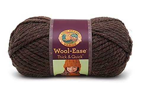 Lion 640-404 Wool-Ease Thick & Quick Yarn , 97 Meters, Wood - Quick Yarn Barley