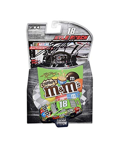 - AUTOGRAPHED 2015 Kyle Busch #18 M&Ms Crispy Team CHAMPIONSHIP SEASON (Joe Gibbs Racing) Sprint Cup Series WAVE 4 NASCAR Authentics Signed Lionel 1/64 Scale NASCAR Diecast with COA