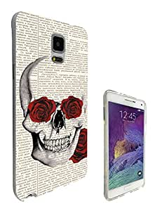 572 - Funky Sugar Skull vintage News paper flower Rose eyes Design Samsung Galaxy Core Prime G360 Fashion Trend CASE Gel Rubber Silicone All Edges Protection Case Cover