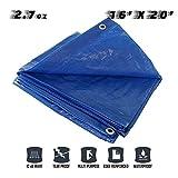 Sunshades Depot 16 x 20 Feet General Multi-Purpose 5 Mil Waterproof Blue ...
