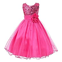 Flower Girls Dress for Wedding Party with Sequins