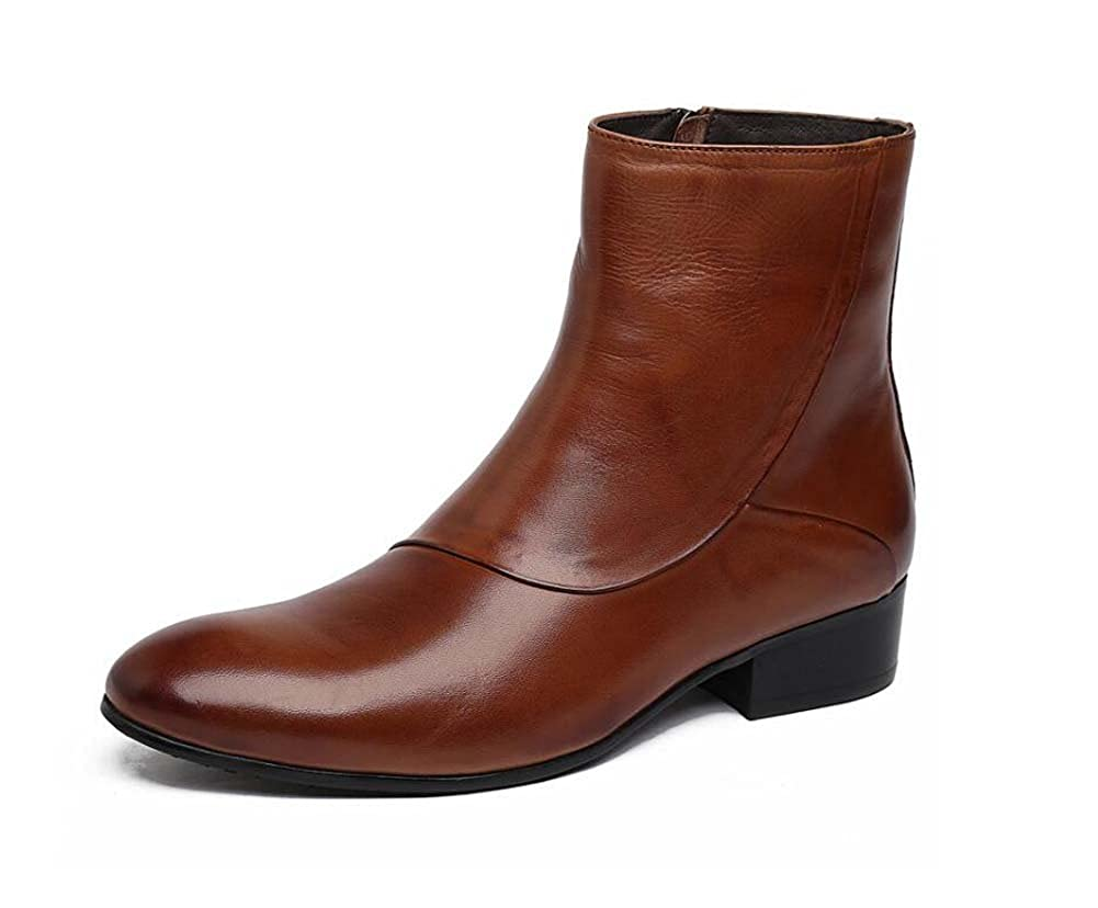 MYI Herren Arbeitsschuhe Einzel Stiefel Leder Bequeme Hochzeit Schuhe Atmosphäre Hohe Schuhe Geschäft Casual Modelle
