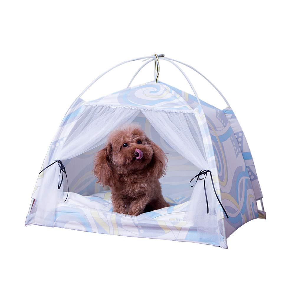 A M A M JIANXIN Pet Tent Nest, Semi-Closed Cat Litter, Removable and Washable, Suitable for Cats and Small Dogs, Suitable for All Seasons (color   A, Size   M)