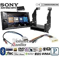 Volunteer Audio Sony XAV-W651BTN Double Din Radio Install Kit with Bluetooth, Pandora, iPhone Control, USB, AUX, Navigation For 2010-2012 Nissan Sentra