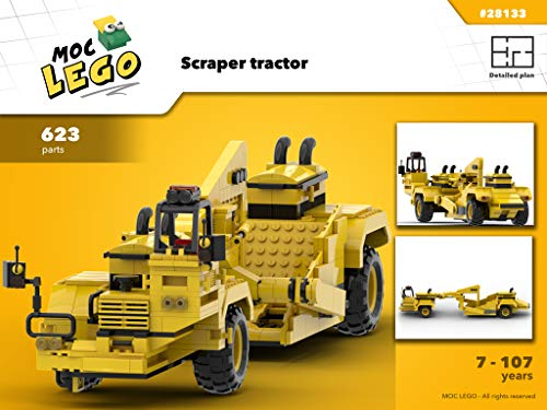 Scraper tractor (Instruction Only): MOC LEGO por Bryan Paquette