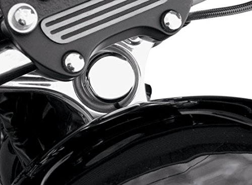 Orange Cycle Parts Chrome Steering Stem Bolt Cover for Harley 1987-1988 XL Sportster and 1999-2017 FXD Models with 39mm Forks