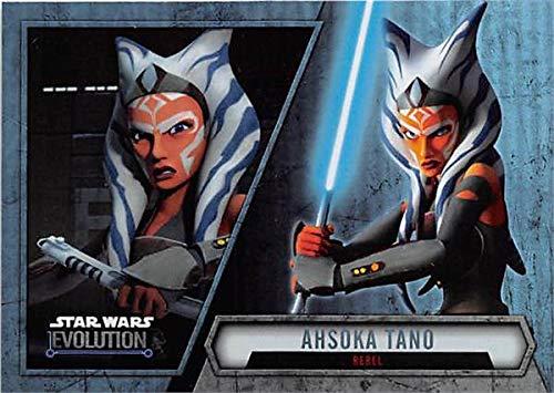Ahsoka Tano trading card Star Wars Topps Evolution 2016#12 Refractor from Autograph Warehouse