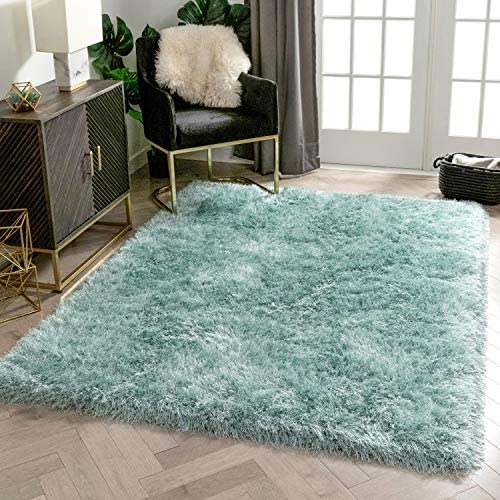 Deal of the week: Well Woven Chie Light Blue Kuki Collection Ultra Soft Two-Tone Long Floppy Pile Rug 8×10 7'10″ x 9'10″