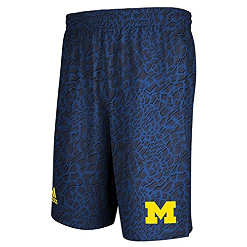 adidas Michigan Wolverines Blue Crazy Light Youth Shorts (X-Large)