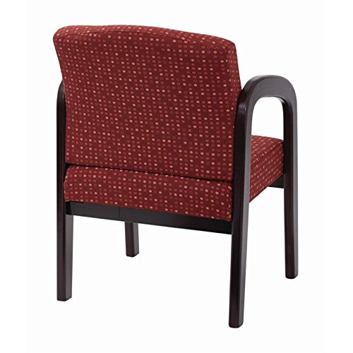 Work Smart WD383-K114-osp Fabric Mahogany Finish Wood Visitor Chair, Ruby