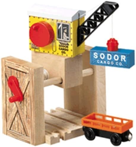 B00000JICZ Thomas & Friends Wooden Railway by Learning Curve - Sodor Cargo Crane 51LRVIBWjfL.