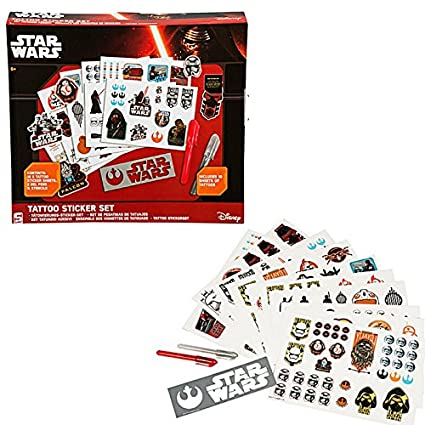 STAR WARS EPISODE 7 TATTOO STICKER KIT KIDS FUN GIFT TEMPORARY REMOVABLE  SET NEW