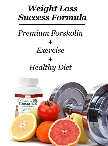 Highest Grade 20% Pure Forskolin Natural Weight Loss Diet Pill - Appetite Suppressor + Metabolism Booster + Carb & Fat Blocker - Increases Energy - Powerful Antioxidant - Menopause Support - 100% Safe