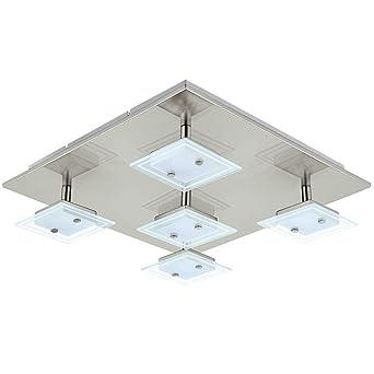 Luxus LED Decken Lampe Arbeits Zimmer Strahler Büro Leuchte Glas Beleuchtung