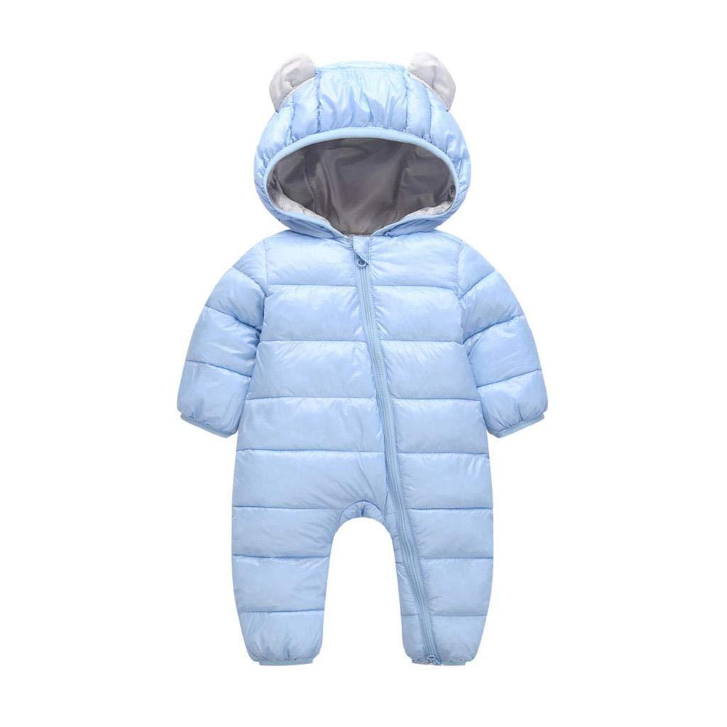 VICGREY ❤ Piumino Bambino Invernale Tute da Neve Neonato Hooded Pagliaccetti, Pagliaccetto del Bambino Inverno Giubbotto Vestiti Caldi Spessi Maniche Lunghe Giubbotto