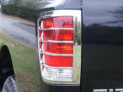 - QAA FITS Titan 2004-2015 Nissan (2 Pc: ABS Plastic Taillight Bezels w/Chrome Overlay, 2/4-door) TL24515