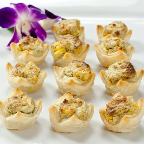 Pastry Kisses Cilantro Pesto and Corn Frozen Appetizer - 1 box, 12 count by Pastry Kisses