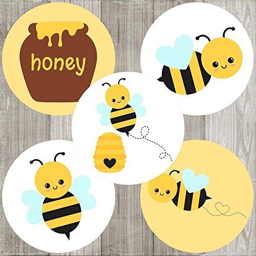 Bumble Bee Sticker Labels - Boy Girl Children