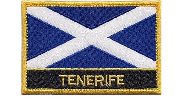 Tenerife Islas Canarias España Bandera Bordada rectangular parche ...