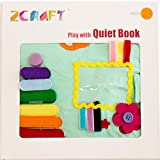 ZCRAFT play with Quiet book, Educational toy, Toddler activity book, Busy book, Toy book