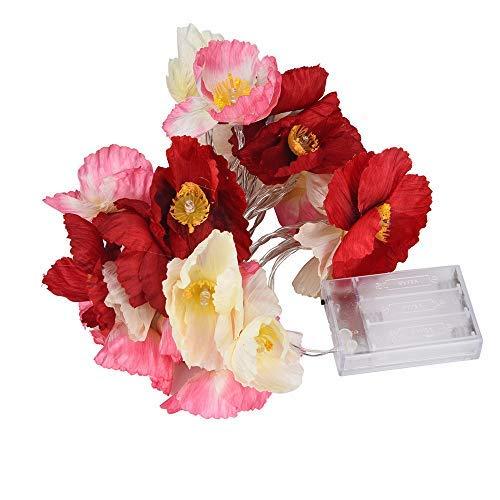 3m20LED Flower Light - LED Light String,Vovomay Small Silk Flower Christmas Room Decoration String Light -