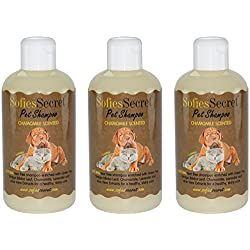 SofiesSecret 100% Natural+Organic Pet Shampoo, (3PACK) Chamomile, NO perfume ORGANIC Extract for Scent, Cruelty Free & Vegan, Green America & Leaping Bunny Certified, 25.5 fl. Oz.