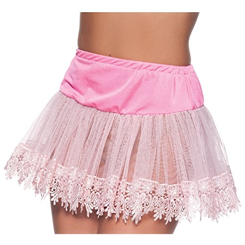 Red Teardrop Lace Petticoat (Heart Teardrop Petticoat Costume Accessory - One Size - Dress Size 8-14)