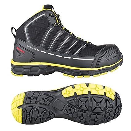 Toe Guard tg8052048 Jumper – Zapatos de seguridad S3 ESD SRC talla 48 negro/limón