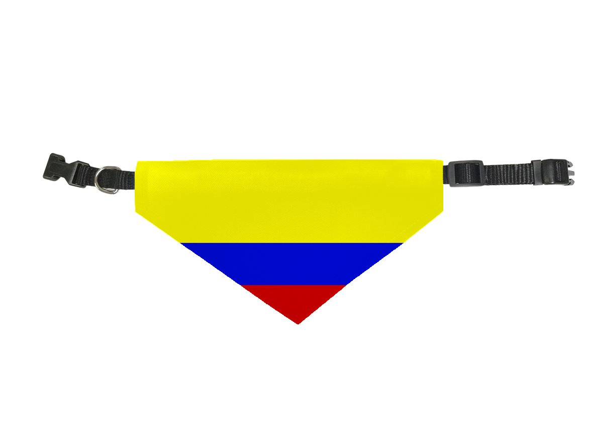 Amazon.com : InfoposUSA Dog Bandana Scarf Collar Triangle Scarf For Large Pets By Colombia Flag : Pet Supplies