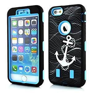 DD Anchor Shape PC and TPU Case for iPhone 6 (Assorted Colors) , Rose