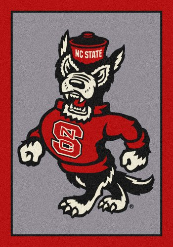 - American Floor Mats North Carolina State Wolfpack NCAA College Team Spirit Team Area Rug 5'4