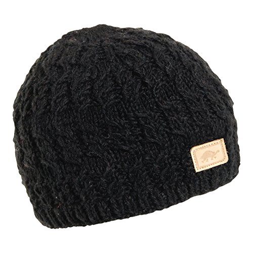 Turtle Fur Women's Nepal Mika, Artisan Hand Knit Wool Beanie, Black
