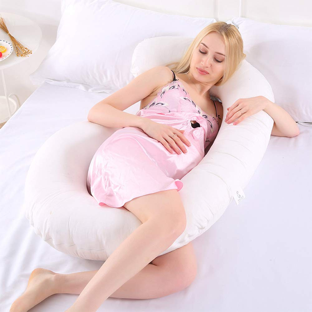 White 75x130cm Detachable /& Washable root907 Multifunctional Pregnancy Pillow Comfortable U-Shape Cushion for Side Sleeping