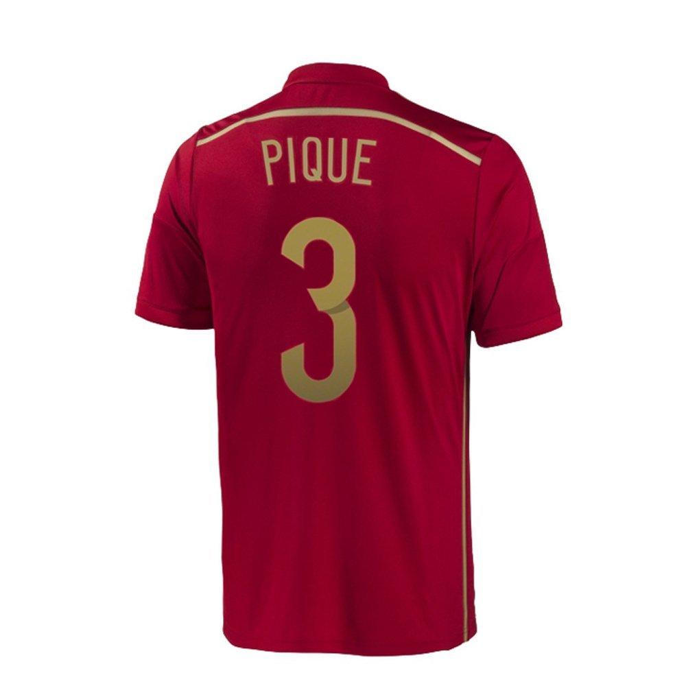Adidas PIQUE #3 España Camiseta 1ra Copa Mundial (L): Amazon.es: Deportes y aire libre