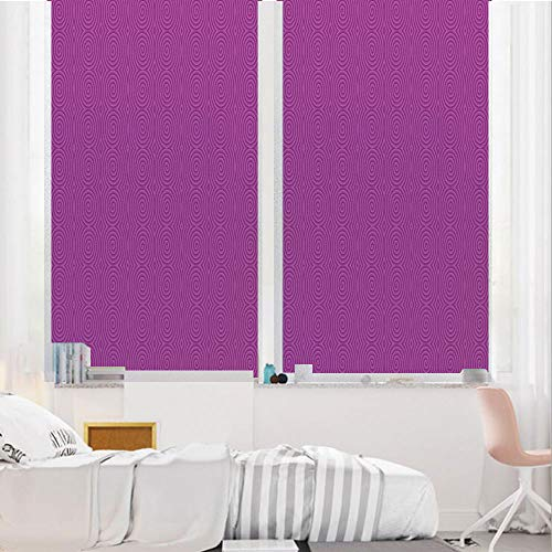 Magenta Decor 3D No Glue Static Decorative Privacy Window Films, Turning Rotary Spiral Tile Twist Symmetric Spinning Plural Motion Modern Image,24