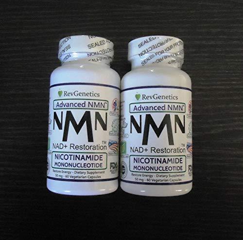 Revgenetics-NMN,Nicotinamide Mononucleotide 60 caps Doppelflaschen LIEFERUNG VON EU MIT GLS