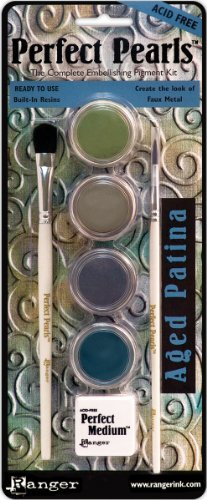 Ranger Perfect Pearls Embellishment Pigment Kit, Aged Patina