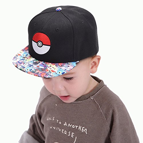 YEAM Pokemon Hat Kids Pokeball Youth Snapback Hat For Boy And Girl,2-12 Years Age – DiZiSports Store