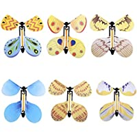 Lordpoll-IT 6 Pezzi Flying Butterfly Wind Up Swallow Tail Butterfly Magic Set di Giocattoli Divertenti