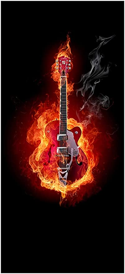 Autoadhesivas papel ardiendo guitarra - 93 x 205 cm color-Calidad ...