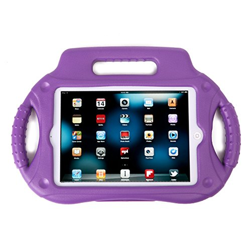 HDE iPad Mini Case Kids Shock Proof Steering Wheel Cover with Stand for Apple iPad Mini/Mini 2 / Mini 3 / Retina (Purple) (Hde Computer Case)
