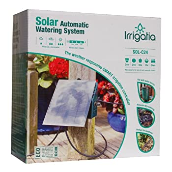 Image of Automatic Irrigation Equipment Bosmere L451 Irrigatia C24 Solar Automatic Watering System, Green