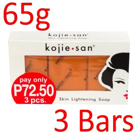 Kojie San Skin Lightening Kojic Acid Soap 3 Bars - (65g Bar)