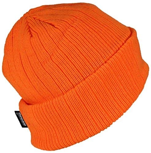 - Best Winter Hats 3M 40 Gram Thinsulate Insulated Cuffed Knit Beanie (One Size) - Neon Orange