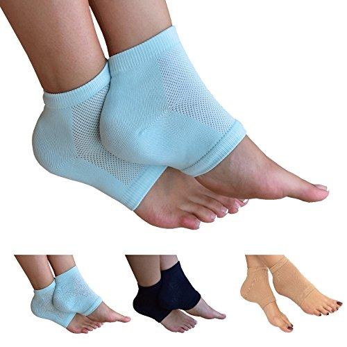 Medipaq Moisturizing Gel Spa Socks - Alleviates Pain And Absorbs Shocks - Walk Comfortably Again! 2X Pairs - Light Aqua by Medipaq