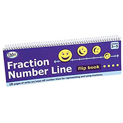 Didax Educational Resources Fraction# Line Flip Book Math Resource: Toys & Games [5Bkhe0503917]