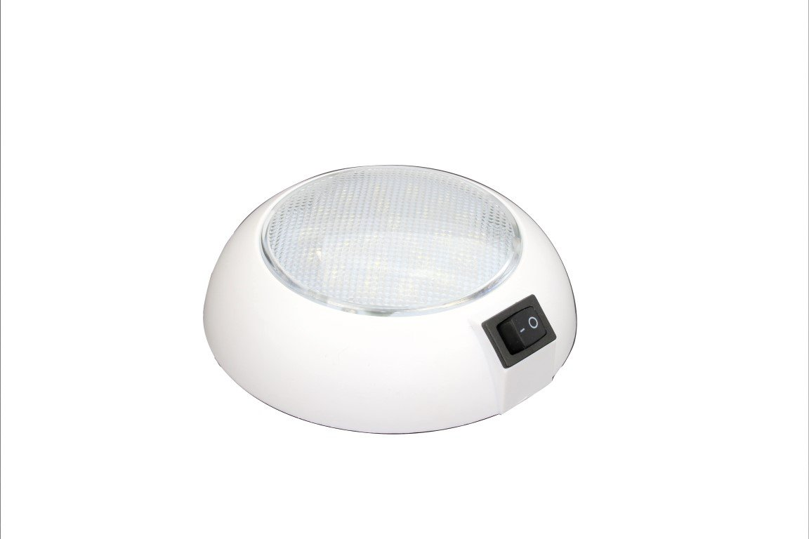 LED Dome Light - 24 VDC - High Power Cool White LED Downlight for Home, Auto, Truck, RV, Boat and Aircraft