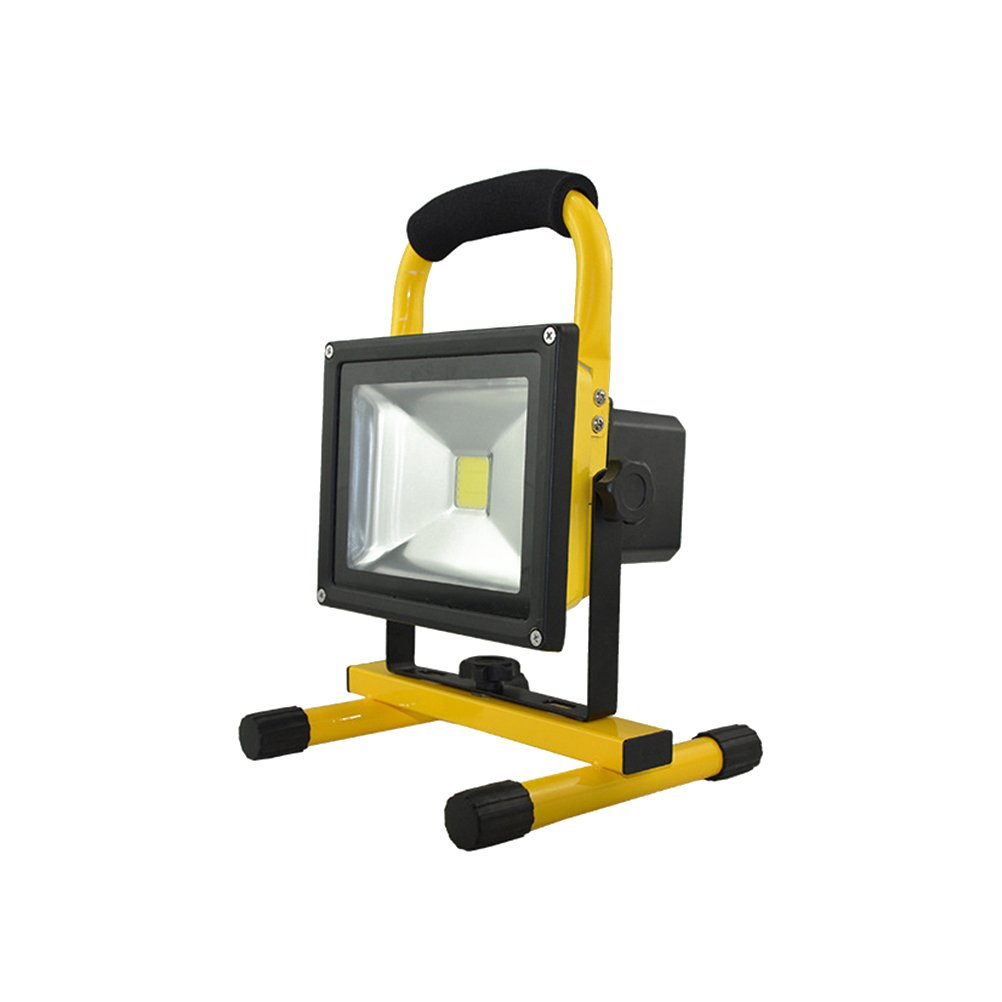 10W LED Flood Light, Portable Rechargeable LED Flood Spot Work Light Lamps for Outdoor Camping Working Fishing by LEDMOMO