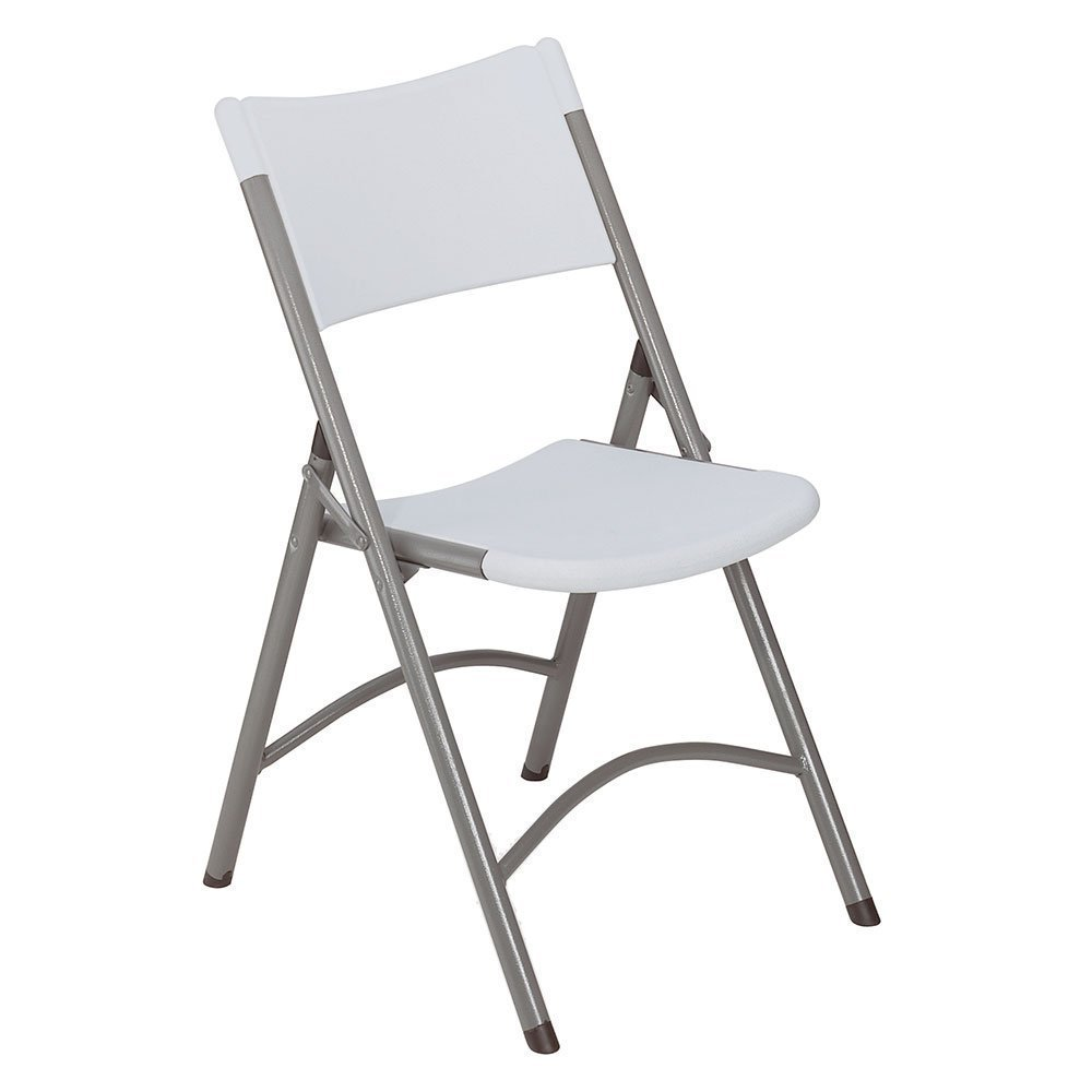 White Commercial Folding Chairs - Stackable, Lightweight & Sturdy, Molded Seat & Back - Ideal For Special Occasions & Everyday Use - 1 Pack, By Ontario Furniture