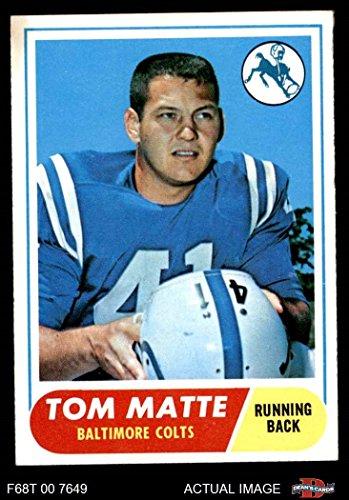 1968 Topps # 178 Tom Matte Baltimore Colts (Football Card) Dean's Cards 6 - EX/MT Colts 1968 Baltimore Colts